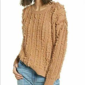 Madewell Fringe Stripe Wool Pullover Sweater SALE!